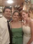 Dan, Erin and Emily atwedding