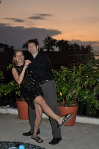Dancing on a roof in Mexico
