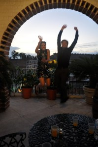 Jumping on a roof in Mexico